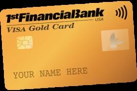 1st Financial Bank USA Visa Gold Credit Card
