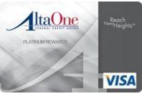 AltaOne Federal Credit Union Visa Platinum Rewards Credit Card