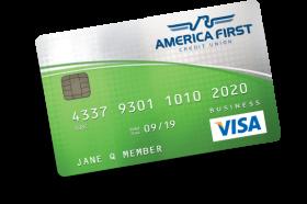 America First Credit Union Business Visa Platinum Cash Back Plus Credit Card
