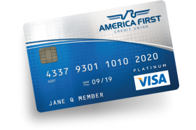 America First Credit Union Visa Platinum Low Rate Credit Card
