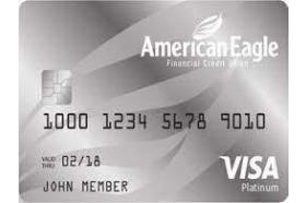 American Eagle Financial Credit Union Platinum Visa Credit Card