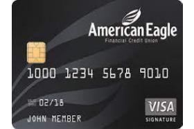 American Eagle Financial Credit Union Signature Visa Credit Card