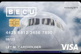 BECU Boeing Cash Back Visa Credit Card