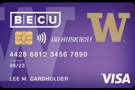 BECU UW Visa Credit Card