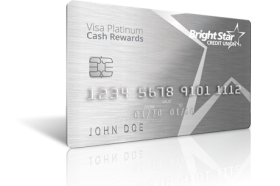 BrightStar Credit Union Visa Platinum Cash Rewards Credit Card