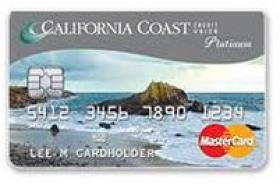 California Coast Credit Union Platinum Secured Mastercard®