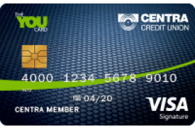 Centra Credit Union The You Visa® Signature Credit Card
