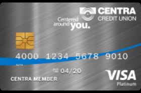 Centra Credit Union Visa® Platinum Secured Credit Card