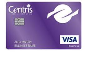 Centris Federal Credit Union Visa® Business Cash Credit Card