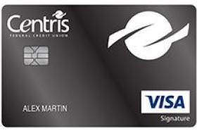 Centris Federal Credit Union Visa Signature® Max Cash Preferred Credit Card