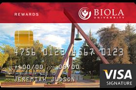 Christian Community Credit Union Biola Visa® Credit Card