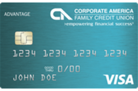 Corporate America Family Credit Union Share Secured Visa