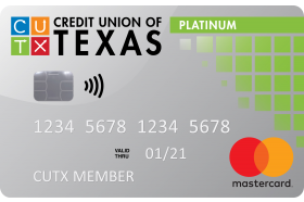 Credit Union of Texas Platinum Mastercard