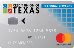 Credit Union of Texas Platinum Rewards Mastercard
