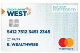 Credit Union West MasterCard Platinum
