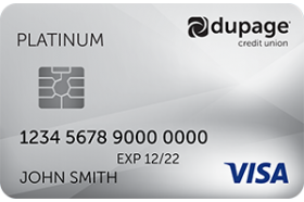 DuPage Credit Union Visa Platinum