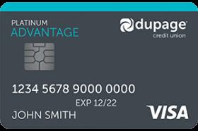 DuPage Credit Union Visa Platinum Advantage Credit Card