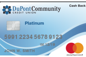 DuPont Community Credit Union MasterCard  Platinum Cash Back Credit Card