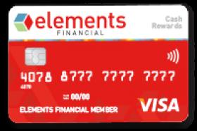Elements Financial Federal Credit Union Cash Reward Visa Card