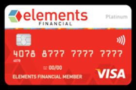 Elements Financial Federal Credit Union Platinum Visa Card