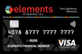 Elements Financial Federal Credit Union Signature Rewards Visa Card