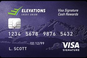 Elevations Credit Union Visa Signature Cash Rewards