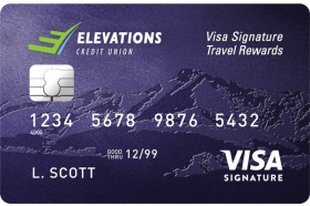 Elevations Credit Union Visa Signature Travel Rewards