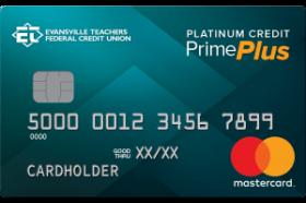 Evansville Teachers Federal Credit Union Platinum Prime Plus Mastercard