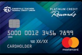 Evansville Teachers Federal Credit Union Platinum Reward Mastercard