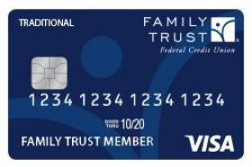 Family Trust Federal Credit Union Traditional Visa Credit Card