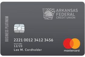Arkansas Federal Credit Union Federal Business Platinum Mastercard