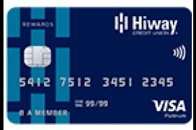 Hiway Federal Credit Union Visa Rewards Credit Card