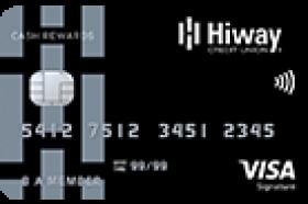 Hiway Federal Credit Union Visa Signature Cash Rewards Credit Card