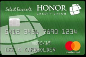Honor Credit Union Select Rewards Credit Card