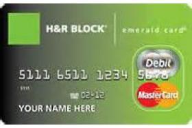 H&R Block Prepaid Emerald Mastercard