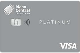 Idaho Central Credit Union Fixed Rate Platinum Visa Credit Card