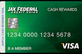 Jax FCU Cash Rewards Visa Credit Card
