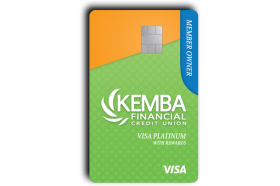 KEMBA Financial Credit Union Platinum Rewards Visa