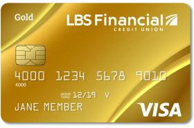 LBS Financial Credit Union Visa Gold