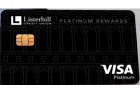 Listerhill Credit Union Visa Platinum Merchandise Rewards