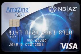 National Bank of Arizona Amazing Cash Visa Credit Card