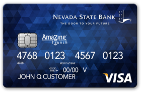 Nevada State Bank Amazing Launch Secured Visa Credit Card