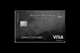 Nevada State Bank Premier Visa Signature Credit Card