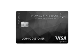 Nevada State Bank Reserve Visa Signature Credit Card