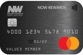 Northwest Federal Credit Union NOW REWARDS Mastercard Credit Card