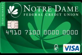 Notre Dame Federal Credit Union Irish Rewards Visa Credit Card