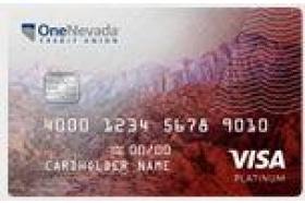One Nevada Credit Union Visa Platinum Rewards Credit Card