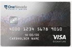 One Nevada Credit Union Visa Signature Rewards Credit Card