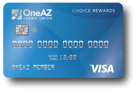 OneAZ Credit Union Visa Choice Rewards Credit Card