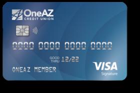OneAZ Credit Union Visa Signature Credit Card